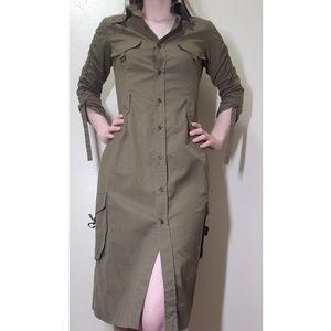 Long Army green dress